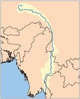 Река Салуин на карте